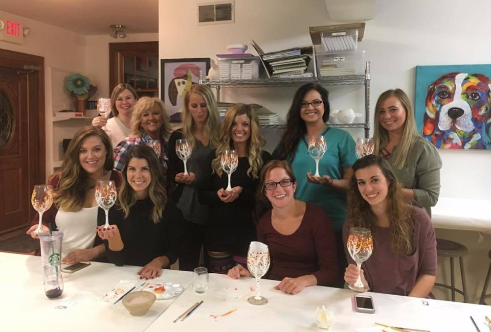 Adult Art Wine glass painting