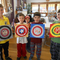 Boys Birthday Art Party