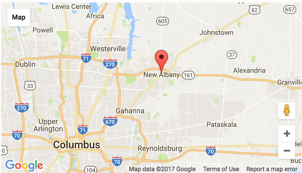 Google Map New Albany Ohio