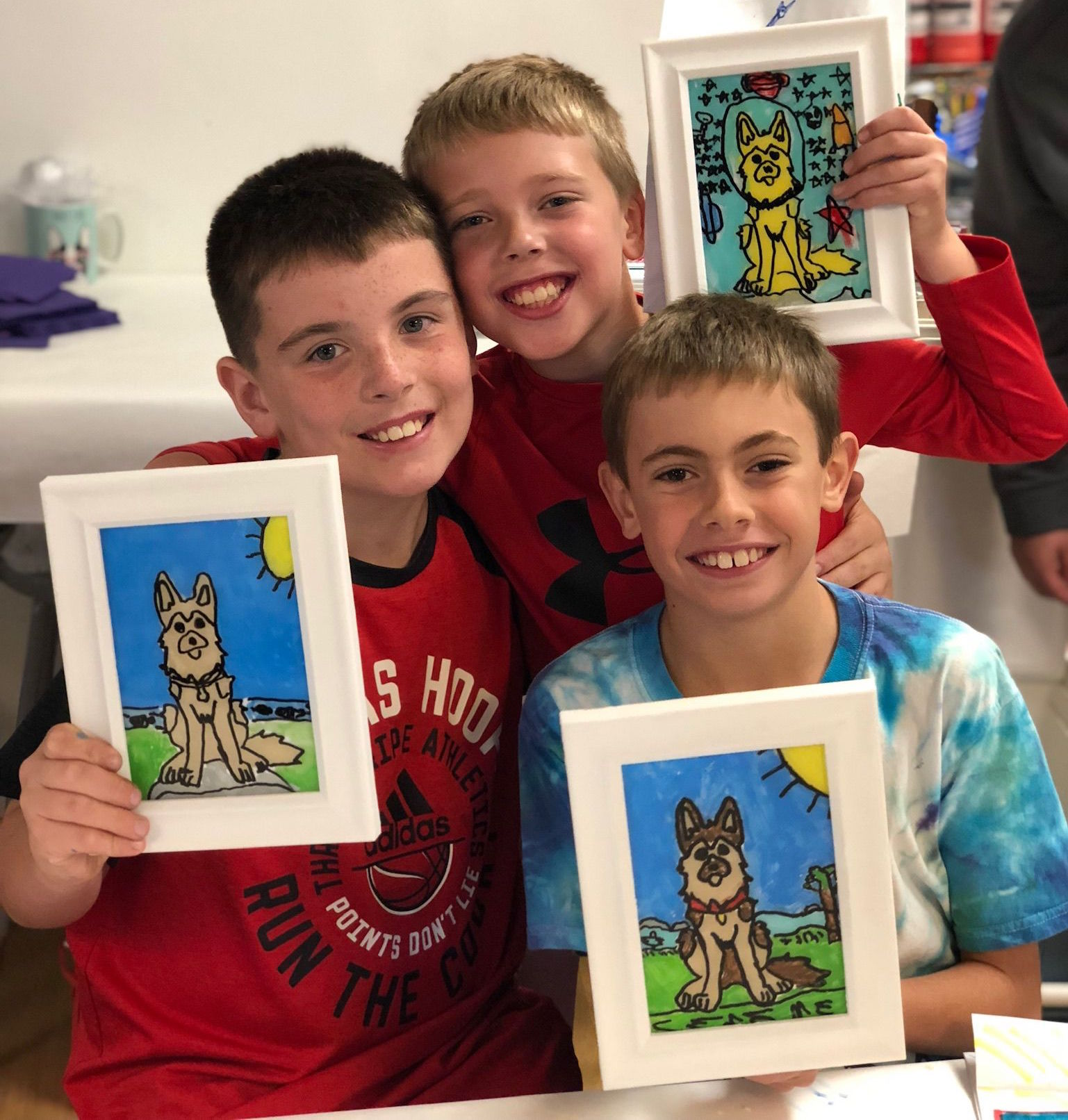 Birthday Art Parties for Middleschool boys