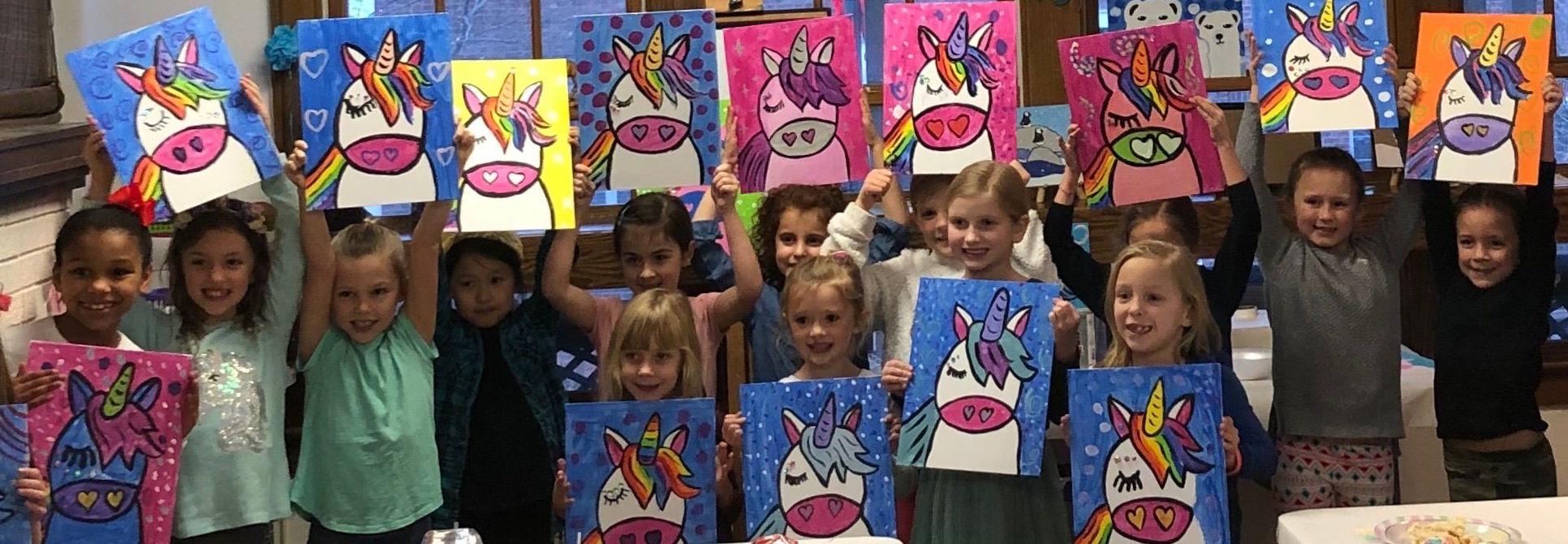 Birthday Parties at Purple Dog Art Studio New Albany Ohio